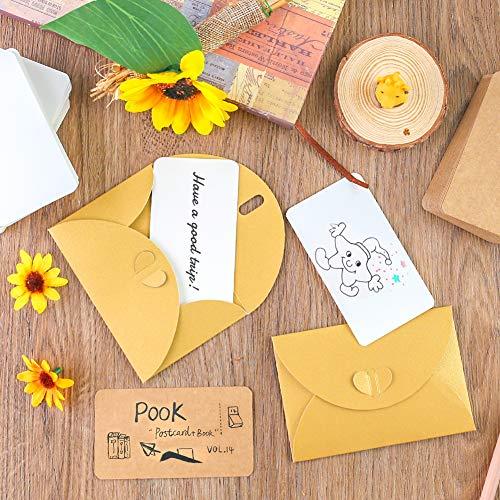 SallyFashion Blanko Papier Karten, 200 Stück Kraftpapier Karten Memory Wort Karten Mitteilungs Karte für Graffiti Nachricht Geschenkanhänger Schule Home Büro