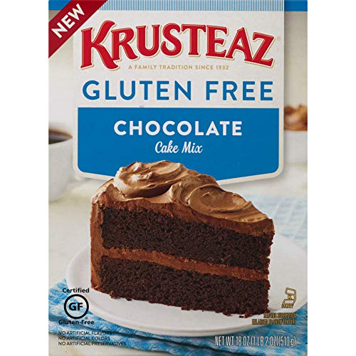 Krusteaz Gluten Free Chocolate Cake Mix 18 Ounce Pack of 8