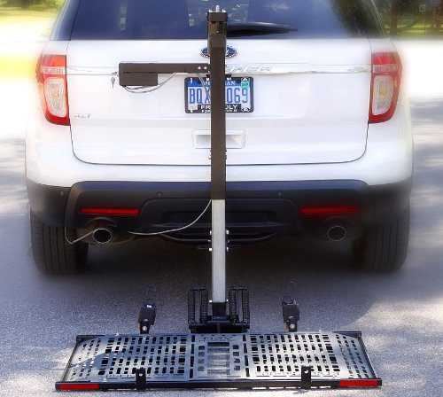 Patriotic Electric Lift US208 Power Wheelchair Carrier Electric Vehicle Lift Hitch Mount Platform Veterans
