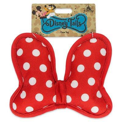 Disney Parks Disney Tails Minnie Bow Squeaky Chew Dog Toy,Re