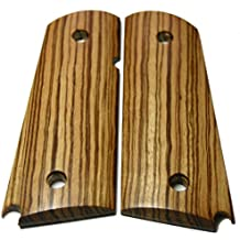 DIY 1911 Gun Grips STRIPED ZEBRAWOOD Officer/Compact Factory Style Wood Custom