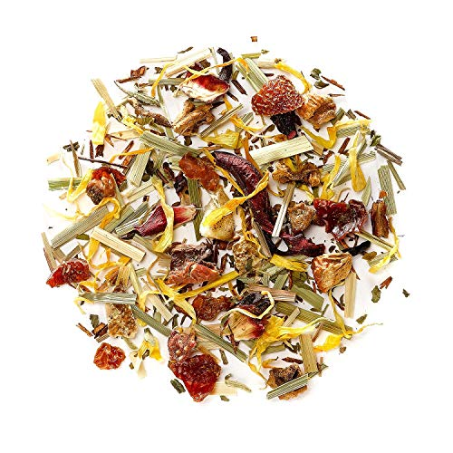 Red Berry Organic Fruit Tea - Organic Loose Leaf Tea Tisane - Herbal Infusion 200g 7.05 Ounce