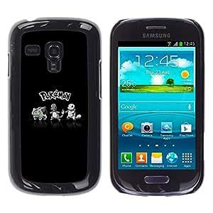 Caucho caso de Shell duro de la cubierta de accesorios de protección BY RAYDREAMMM - Samsung Galaxy S3 MINI 8190 - P0kemon Squad