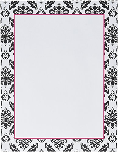 """Great Papers! Black & White Damask Letterhead, 8.5""""x11"""", 80 Count (2012027)"""