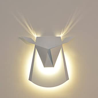 Lampe Murale Moderne Simple Appliques Murales Mur De Tete De Cerf