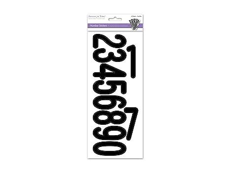 Ss440d Lettere Adesivi 3 Numeri Neri Amazonit Casa E Cucina