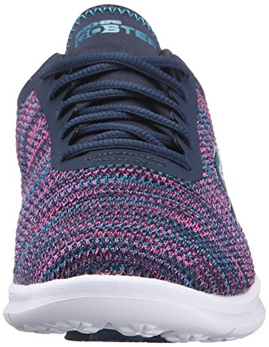Skechers Performance Womens Go Step Cosmic Walking Shoe Pink/Navy Multi o7gwQdv