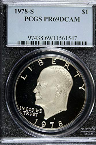 1978 S Eisenhower Ike Dollar Proof Deep Cameo $1 PR69 DCAM PCGS