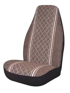 Allison 67-1916BRN Brown Diamond Back Universal Bucket Seat Cover - Pack of 2