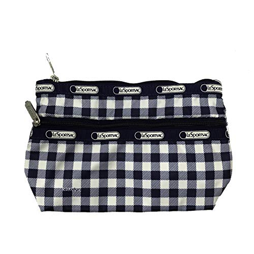 LeSportsac Cosmetic Clutch (Gingham Classic Navy)