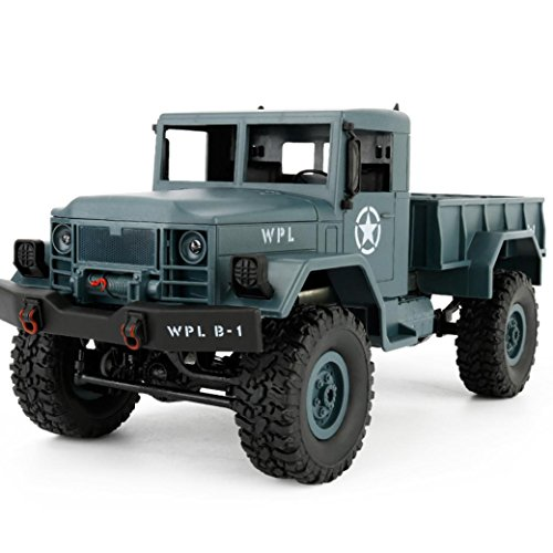 Bekia WPL B-14 1:16 4WD RC DIY Assemble Military Truck Control Car Toy (blue)