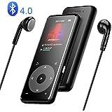 MP3プレーヤー AGPTEK Bluetooth4.0 mp3プレイヤー スピーカー搭載 超高音質 デジタルオーディオプレーヤー タッチパネル 歩数計 合金製 内蔵8GB 最大128GBマイクロSDカード対応 A16TB ブラック