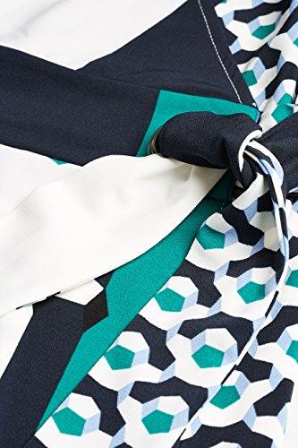 Geometrischem Wickelkleid – Petite Blau next Damen Muster nbsp;mit qFBwWS7t