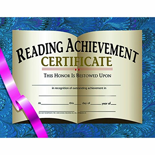 Reading Achievement Certificate - Glossy Paper - Quantity 150 (Reading Achievement Certificate)
