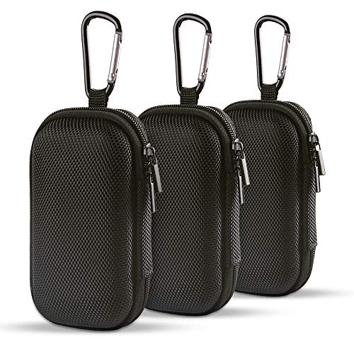 Hootek EVA Shockproof Hard Drive Carrying Case, 3Pack Earbuds Earphone Headset Headphone Travel Case Pouch Bag for MP3 Players, iPod Nano, iPod Shuffle, USB Cable, Memory Cards, U Disk, Keys, ()