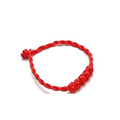 a04989caad03 Pulsera roja mariposa asiática estilo vintage hecha a mano tejido pulsera  para hombres mujeres con la suerte protección pulsera