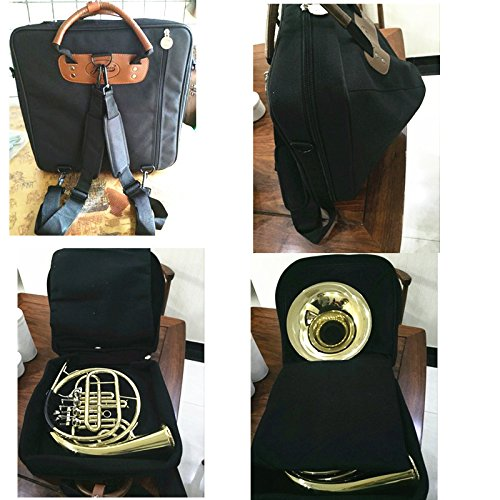 Jinchuan Deluxe French Horn Gig Bag Case Light Weight High Density Foam Padding E-6A Black by Jinchuan (Image #7)