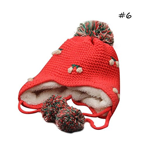 BEST.LIV Baby Winter Hats Warm Cotton Knitted Hats With Earflaps - Flap Liv