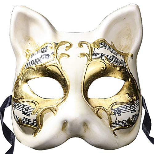 Masquerade Masks Vintage Venetian Halloween Christmas Party Masks(cat for Adult) -