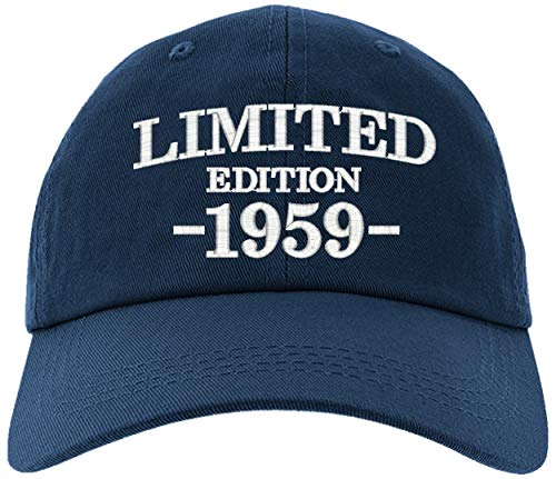 Cap 1959-60th Birthday Gifts, Limited Edition All Original Parts Baseball Hat 1959-EM-0003-Navy