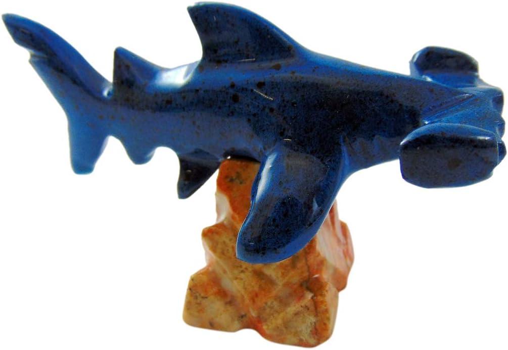 Westmon Works Hammerhead Shark Sculpture Mini Statue Figurine Marble Collectible Sea Life Decoration, 3 Inch