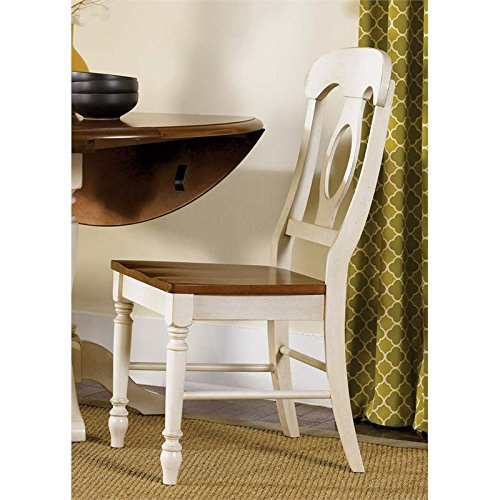 Liberty Furniture Low Country Napoleon Back Dining Side Chair in Linen ()
