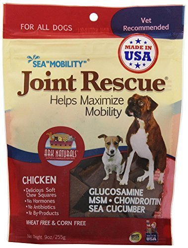 Ark Naturals Sea Mobility - Chicken Jerky 9oz bag - 3 Pack (Sea Jerky Squares)