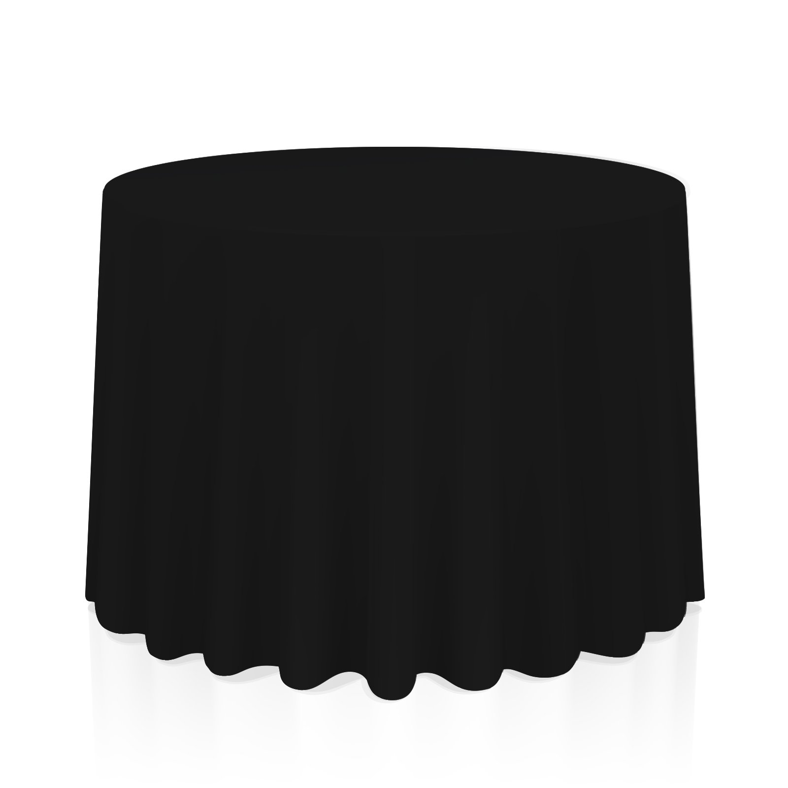 Lann's Linens - 90'' Round Premium Tablecloth for Wedding/Banquet/Restaurant - Polyester Fabric Table Cloth - Black