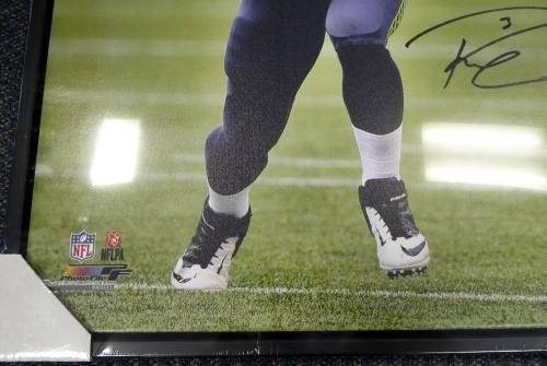 Russell Wilson Autographed Signed Framed 24x30 Canvas Photo Seahawks Rw 107487 Autographed NFL Art