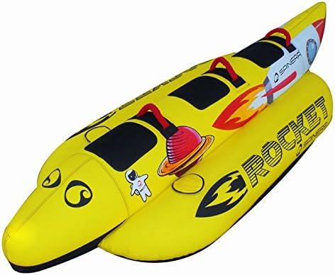 SPINERA Rocket 4 Wassereifen aufblasbare Banane Wassering Towable f/ür 4 Personen