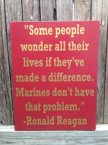 (Ruskin352 US Marines Gifts for Marines US Marine Corps USMC Quote Wood Sign Military Marines Marine Corps Military Wood Sign Ronald Reagan)