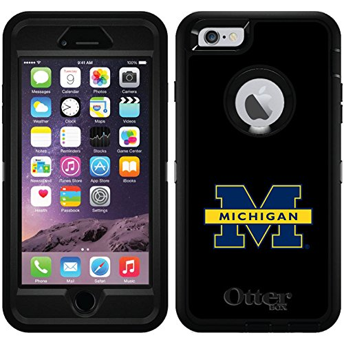 University Of Michigan - Michigan M design on Black OtterBox Defender Series Case for iPhone 6 Plus and iPhone 6s Plus by Coveroo