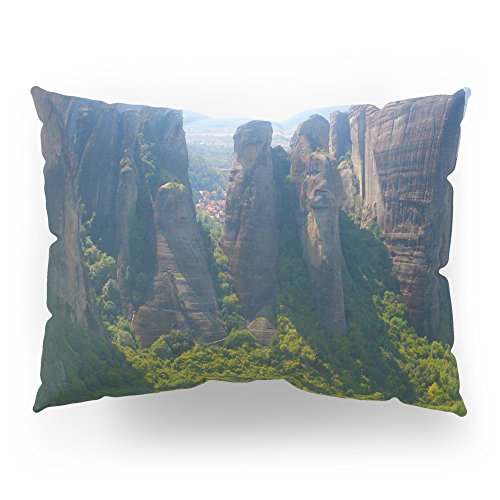 Society6 Meditation Up To Meteora | Greece | Nature Pillow Sham Standard (20'' x 26'') Set of 2 by Society6