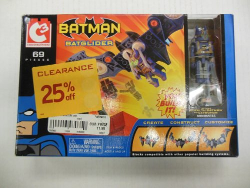 Batman Batglider Stealth Batman VS. Catwoman You Build It! Block Kit 69 Pieces]()