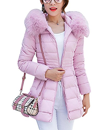 Manteau Pink Épaissi Parka Capuche Rembourrée Longue Veste Femme FWf0pZqwU