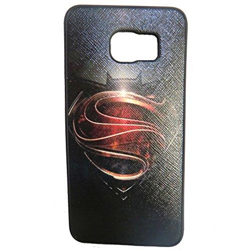Galaxy S6 Edge Plus Case, Casmart customize Silicone Smart Phone Case for Samsung Galaxy S6 Edge (SuperMan-Black)