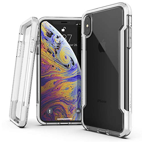 X-Doria Defense Clear Series, iPhone Xs Max Case - Military Grade Drop Protection, Shock Protection, Clear Protective Case for iPhone Xs Max, 6.5 inch Screen, [White]