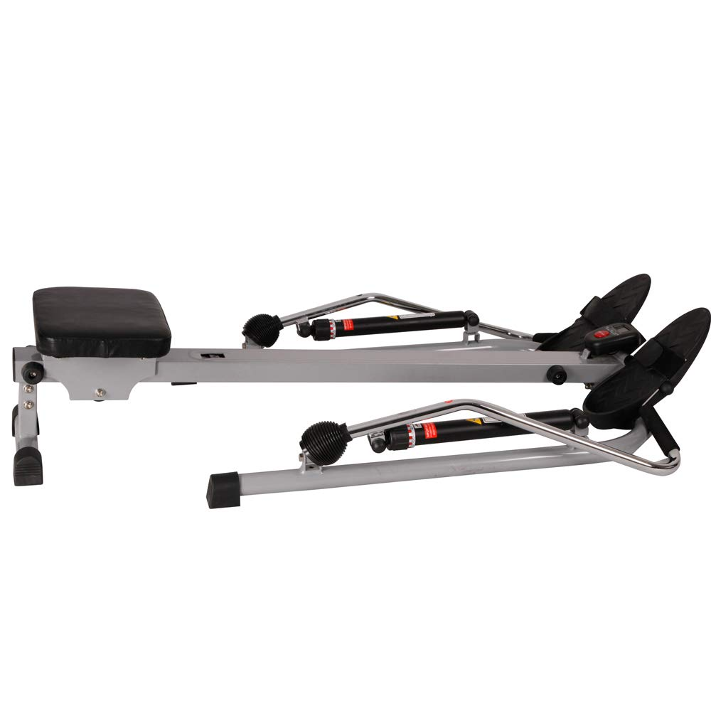 Sunny Health and Fitness 12 Level Resistance Rowing Machine Rower w/Independent Arms (SF-RW5619) with Workout Cooling Towel by Sunny (Image #6)
