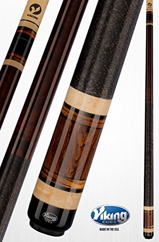Viking A350 Pool Cue Stick Coffee Stain Central American Cocobolo, West African Ebony, Birdseye Cross Grain Zebrawood Quick Release Joint ViKORE Shaft 18, 18.5, 19, 19.5, 20, 20.5, 21 oz. (18)