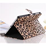 Brown / Leopard Animal Print Premium PU Leather Protective Skin Smart Stand Case Cover Wallet Folio for Apple iPad Mini (4240-1)