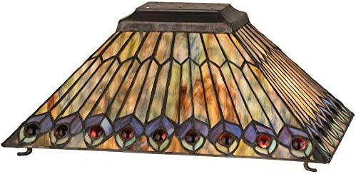 Fine Art Lighting Tiffany Table Lamp, 16 by 23-Inch, 420 Glass Cuts