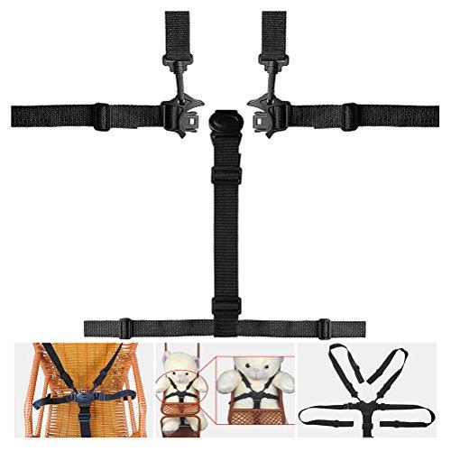 Hugesavings 5 Point High Chair Straps, Safety Harness Belt, Baby Safety Straps, High Chair Harness Seat Belts Stroller High Chair Pram Buggy Children Kid Pushchair (High Seat Belt Chair)