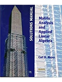 Amazon linear algebra books matrix analysis and applied linear algebra solutions manual fandeluxe Images