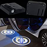 2Pcs Wireless Universal LED Car Door Welcome Light Laser Car Door Shadow Led Projector Logo Wireless Car Welcome Door for Volvo and all Cars,No Drilling Required (Volvo)