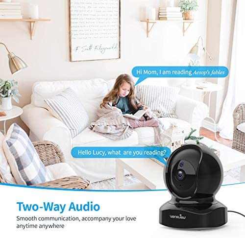 Wansview Wireless Security Camera, IP Camera 1080P HD, WiFi Home Indoor Camera for Baby/Pet/Nanny, Motion Detection, 2 Way Audio Night Vision, Works with Alexa, with TF Card Slot and Cloud 51MxRzFJ33L