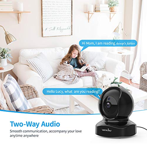 IP Camera, Wireless Security Camera 1080P HD Wansview, WiFi Home Indoor  Camera for Baby/Pet/Nanny, Motion Detection, 2 Way Audio Night Vision,  Works