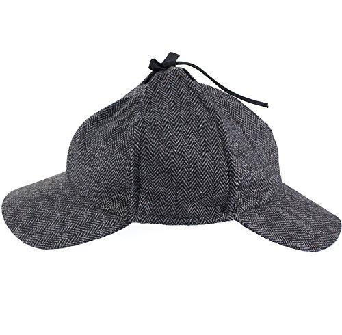4b44538fe71 Funny Party Hats Sherlock Holmes Hat - Detective Hat - Deerstalker Hat -  Tweed Sherlock Holmes