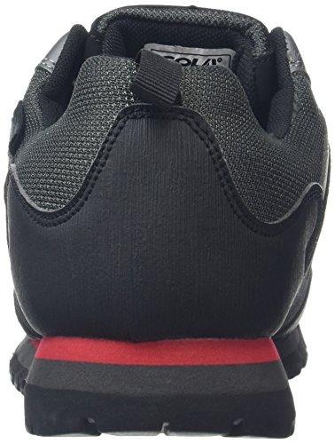 Gola grey Hombre black Senderismo Rise red Makay Zapatos Low De Negro rxrCqP