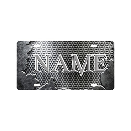 Personalized License Plate With Your Name - Custom License Plates Auto Car Tag - Metal Front Of Car License Plate Covers (Personalized Front Plates License)