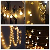 Blinngo LED Globe String Lights, 40LED 13ft 3XAA Battery Powered Fairy Lights, Decor Rope Lights For Home, Gardens, Lawn, Patio, Weddings, Parties (Warm White)